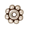 Spacer Heishi Beaded 6mm Antique Silver